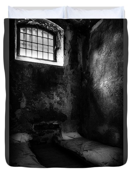 Duvet Cover featuring the photograph An Empty Cell In Old Cork City Gaol by RicardMN Photography