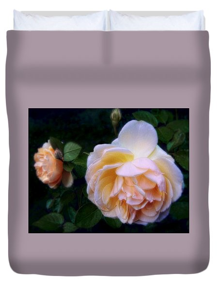 Duvet Cover featuring the photograph An English Autumn by Louise Kumpf
