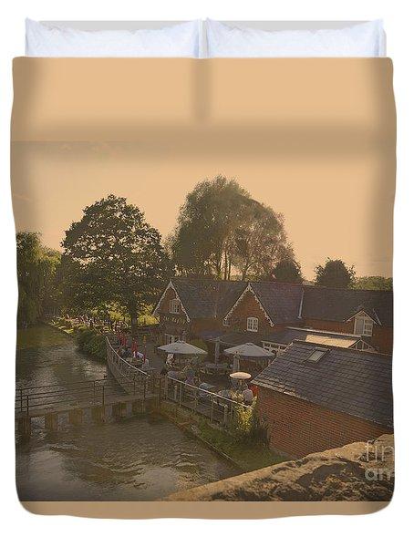An English Public House Duvet Cover