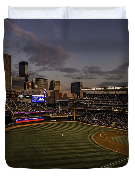 An Evening At Target Field Duvet Cover by Tom Gort