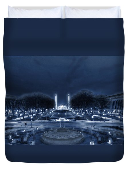 An Evening At The Capitol Duvet Cover