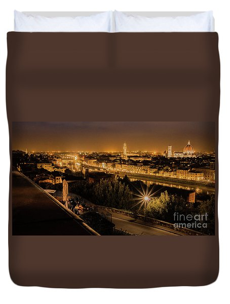 An Evening In Florence Duvet Cover