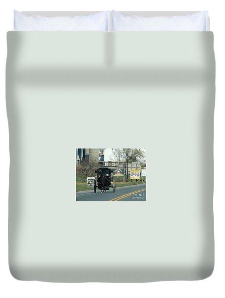 An Evening Ride Duvet Cover