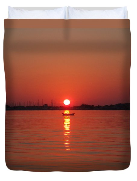 An Evening Row Duvet Cover