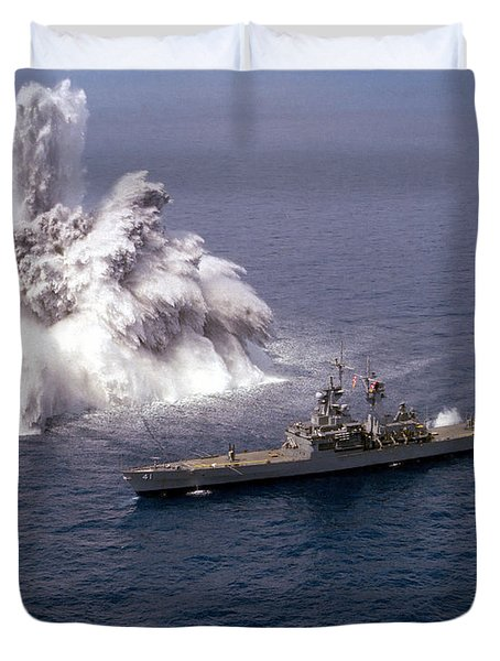An Explosive Charge Is Detonated Duvet Cover by Stocktrek Images