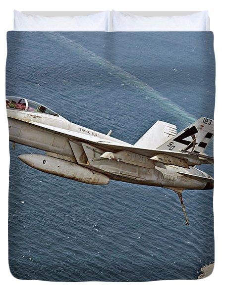 An F A-18f Super Hornet 5 Duvet Cover