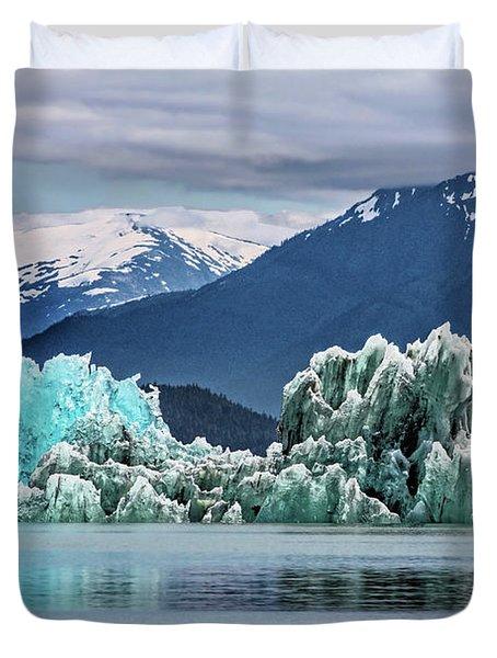 An Iceberg In The Inside Passage Of Alaska Duvet Cover