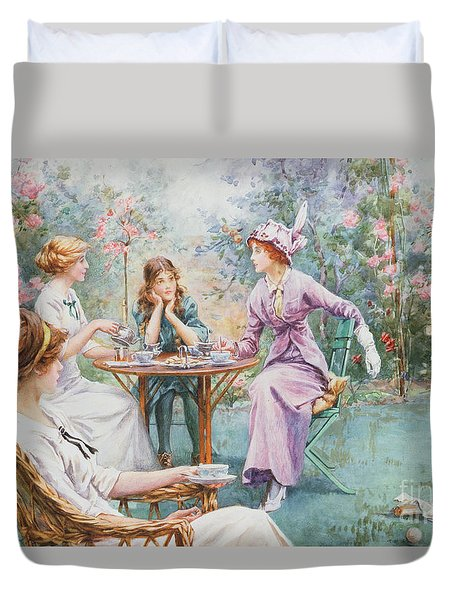 An Interested Audience Duvet Cover