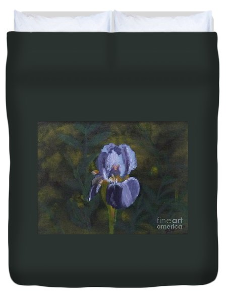 An Iris In My Garden Duvet Cover