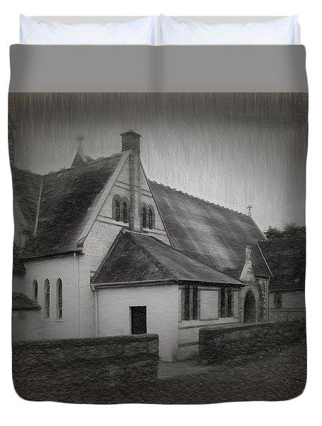 An Irish Church Duvet Cover by Dave Luebbert