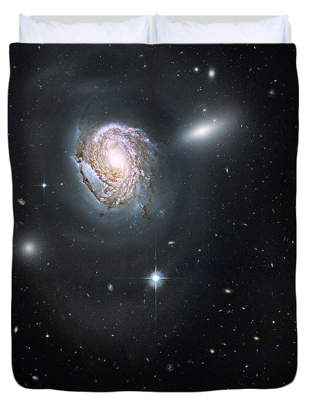 Duvet Cover featuring the photograph An Island Universe In The Coma Cluster by Nasa