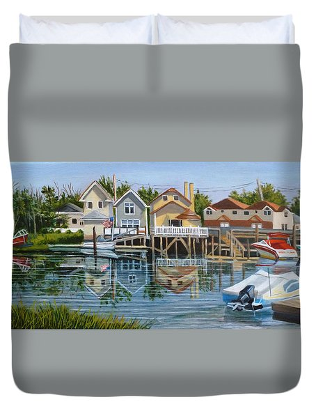 An Oasis Of Peace In Queens Duvet Cover