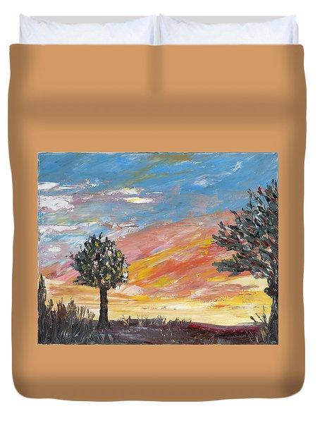 An Ohio Sunset Duvet Cover