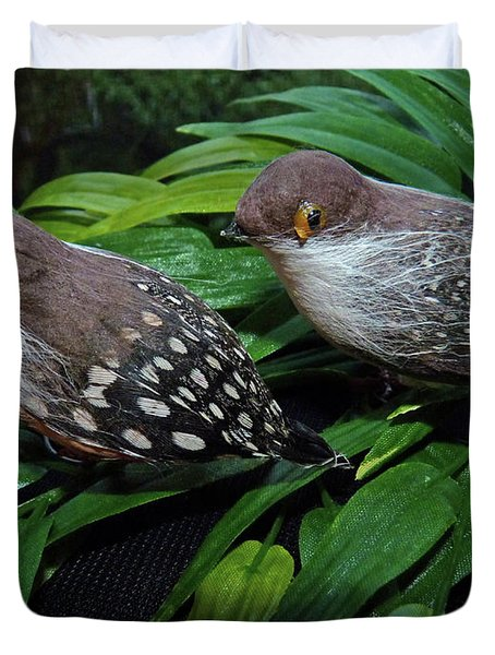An Old Couple These Two Birds Duvet Cover