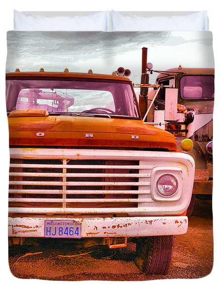 An Old Ford And Kenworth Duvet Cover