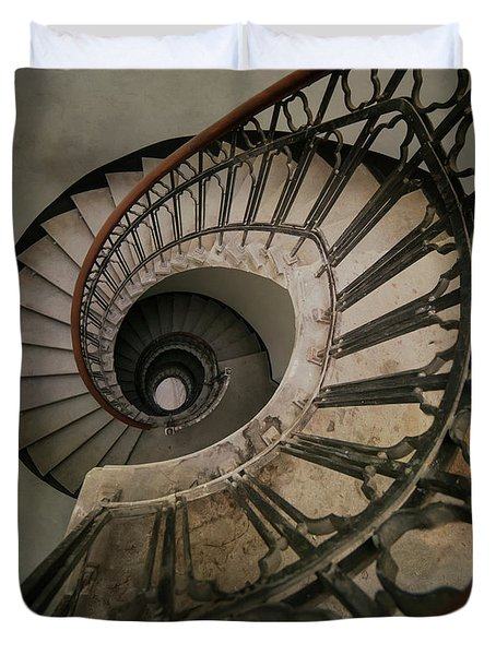 An Old Spiral Staircase Duvet Cover