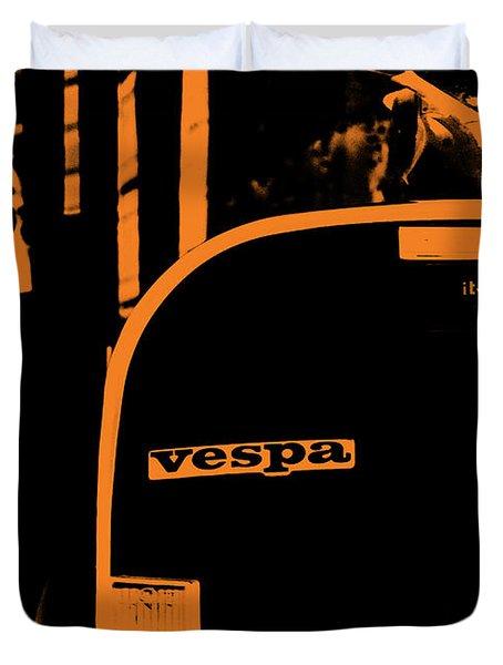 An Old Vespa Duvet Cover by Andrea Mazzocchetti