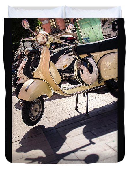 An Old Vespa Scooter - 2 Duvet Cover by Andrea Mazzocchetti