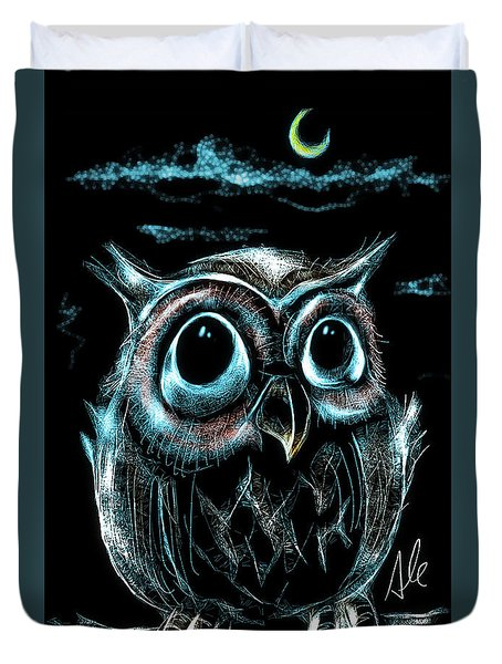 An Owl Friend Duvet Cover