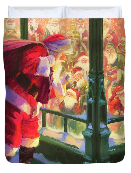 Duvet Cover featuring the painting An Unforeseen Encounter by Steve Henderson