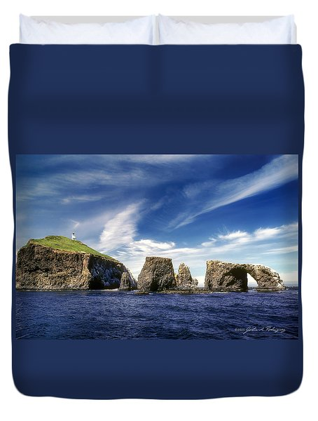 Channel Islands National Park - Anacapa Island Duvet Cover by John A Rodriguez