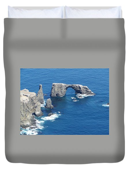 Anacapa Island Arch Rock Duvet Cover
