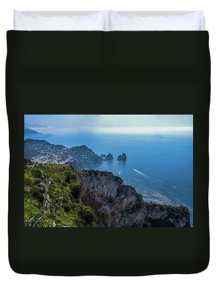 Anacapri On Isle Of Capri Duvet Cover