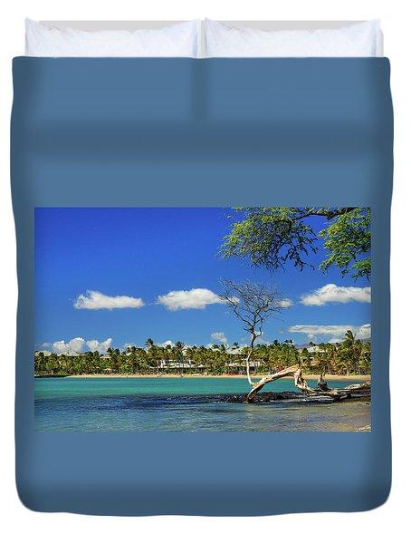 Anaehoomalu Bay Duvet Cover by James Eddy