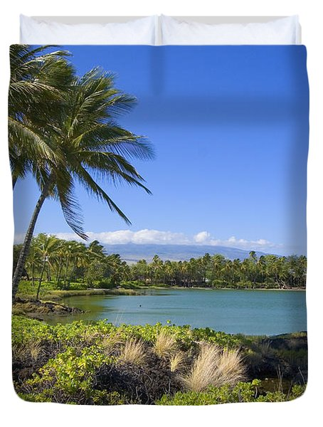 Anaehoomalu Bay Duvet Cover by Ron Dahlquist - Printscapes