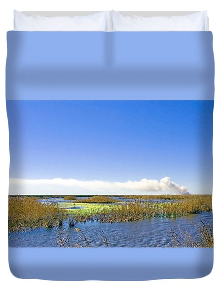 Anahuac Marshes Duvet Cover