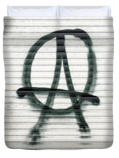Anarchist Symbol Duvet Cover