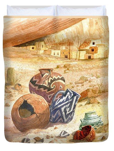 Anasazi Remnants Duvet Cover