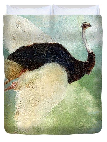 Anastasia's Ostrich Duvet Cover