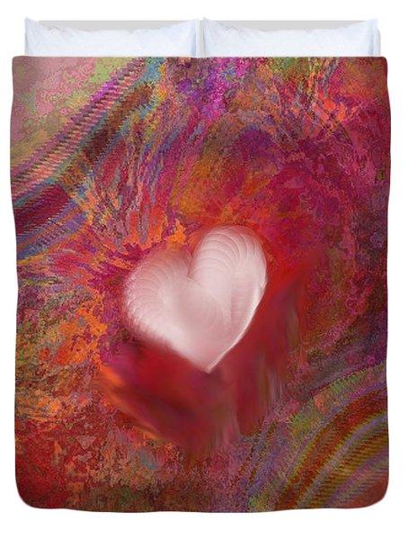 Anatomy Of Heart Duvet Cover