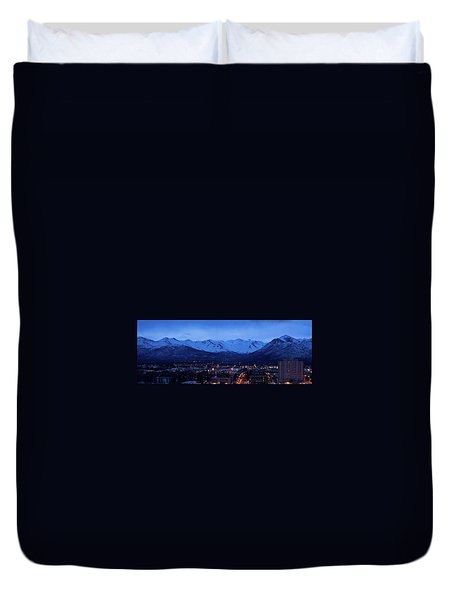 Anchorage At Sunrise Duvet Cover