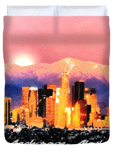 Duvet Cover featuring the digital art Anchorage - Bright-named by Elaine Ossipov