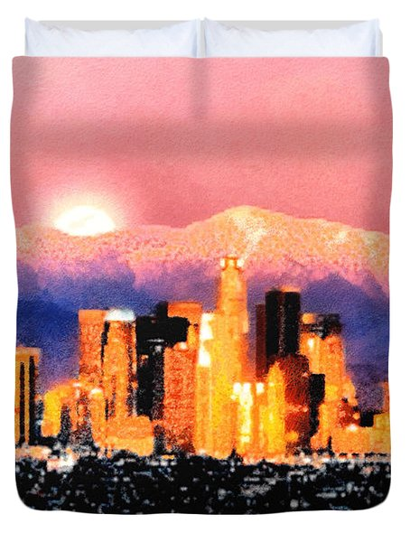 Duvet Cover featuring the digital art Anchorage by Elaine Ossipov