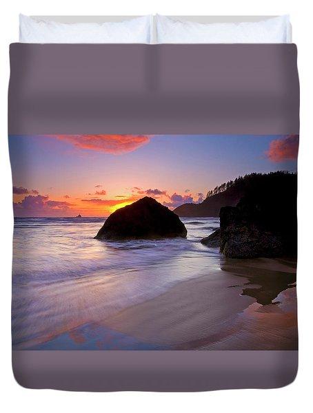 Anchoring The Beach Duvet Cover by Mike  Dawson