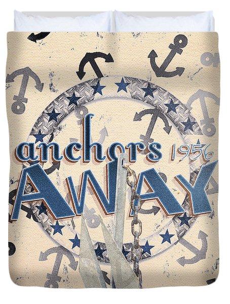 Anchors Away 1956 Duvet Cover