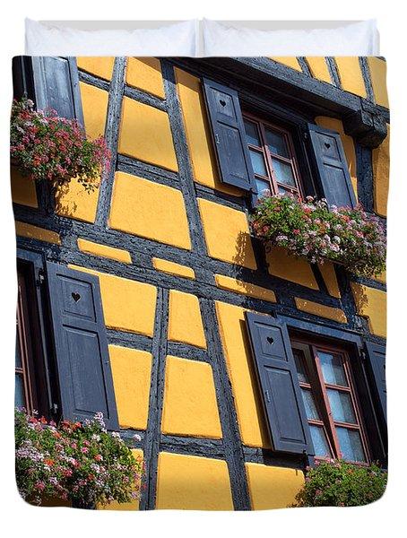 Ancient Alsace Auberge Duvet Cover