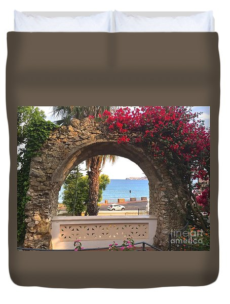 Ancient Arch Gaeta Italy Duvet Cover