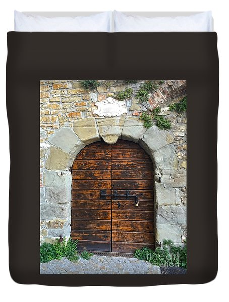 Ancient Castle Castel Door Trieste Duvet Cover