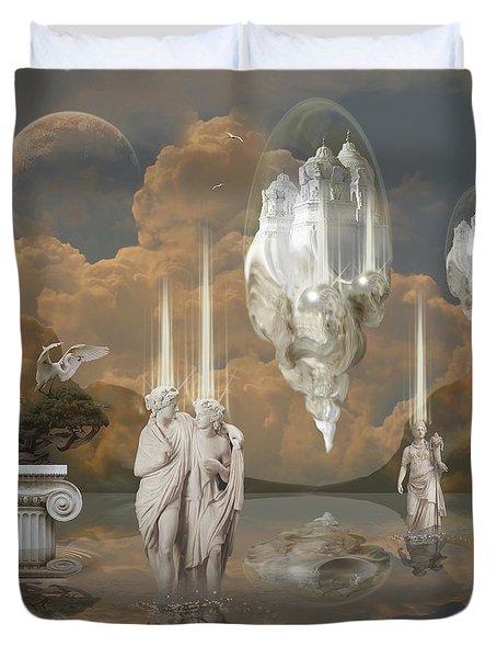 Duvet Cover featuring the digital art Ancient Civilization by Alexa Szlavics