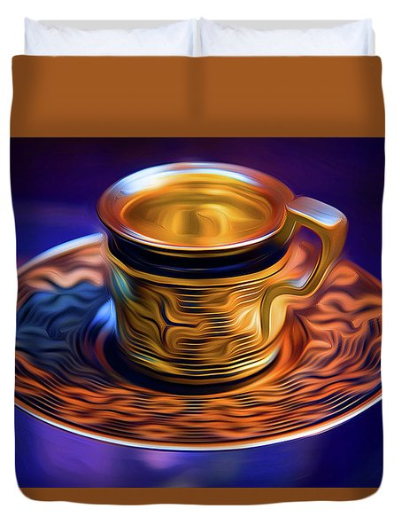 Ancient Coffee Mug Duvet Cover