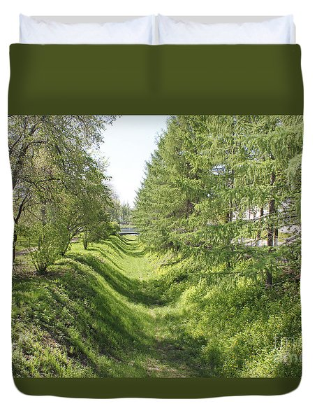 Ancient Ditch Duvet Cover by Evgeny Pisarev