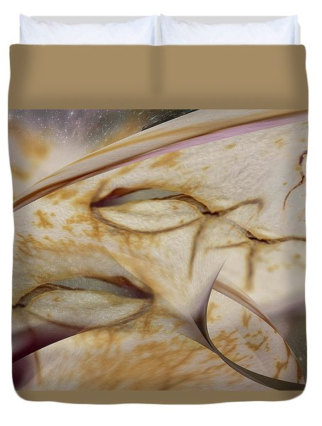 Fish Time In The Universe.... Duvet Cover