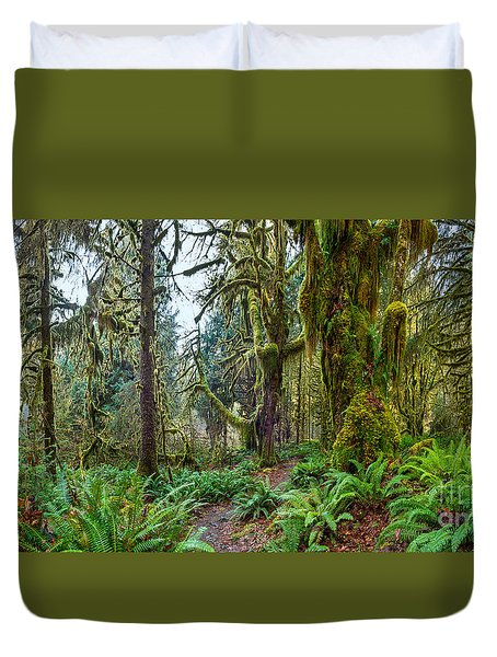 Ancient Forest Panorama Duvet Cover