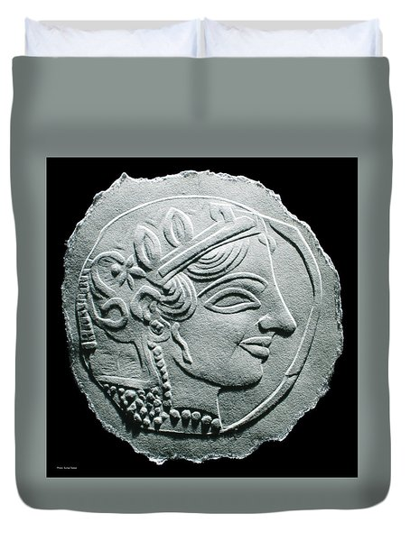 Ancient Greek Relief Seal Drawing Duvet Cover
