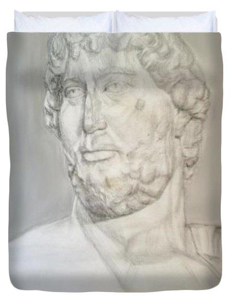 Ancient Greek Statue Duvet Cover