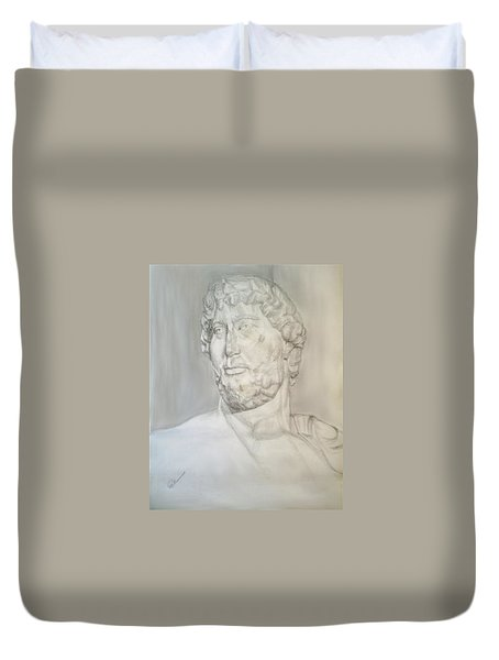 Ancient Greek Statue Duvet Cover